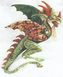 Fiery Green Cloth Dragon by Melinda Small Paterson
