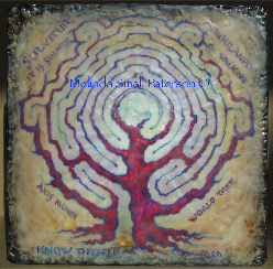Red Tree Labyrinth Painting by Melinda Small Paterson