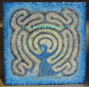 Blue Goddess Labyrinth Painting by Melinda Small Paterson