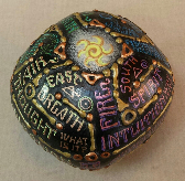 Word Oblong Labyrinth Sphere by Melinda Small Paterson