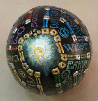 Word Egg Labyrinth Sphere by Melinda Small Paterson
