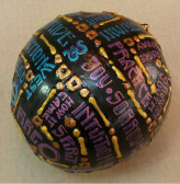 Word Orb Labyrinth Sphere by Melinda Small Paterson