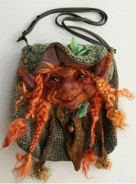 Felted Faerie Face Purse by Melinda Small Paterson