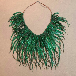 Green Shine Soft Necklace by Melinda Small Paterson