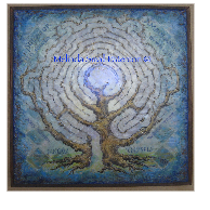 Blue Tree Labyrinth by Melinda Small Paterson