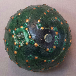 Green Orb Labyrinth Sphere by Melinda Small Paterson